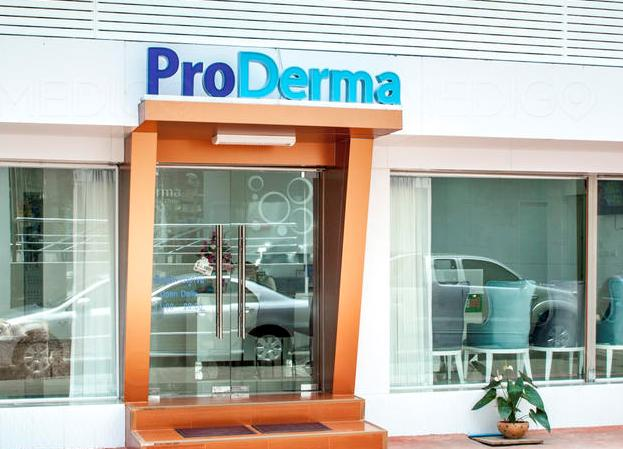 Photo in front of proderma aesthetic clinic